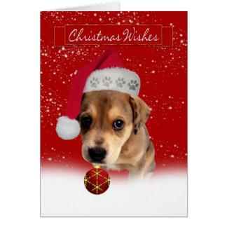 el navidad desea la tarjeta de felicitación con
