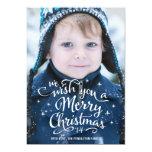 El navidad desea la tarjeta de la foto del día de invitación 12,7 x 17,8 cm