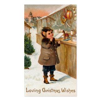 """El """"navidad desea """" tarjetas de visita"""