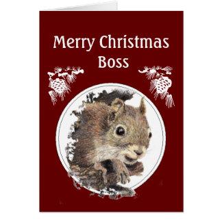 El navidad dirige, del manojo de nueces - ardilla tarjetón