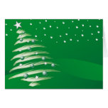 El navidad diseñó la tarjeta
