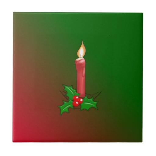 El navidad diseño mira al trasluz y del acebo tejas  ceramicas