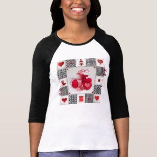 El navidad divertido calza la camiseta con playeras