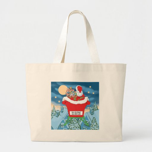 El navidad divertido de Papá Noel Humor cómo está  Bolsas