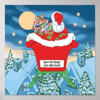 El navidad divertido de Papá Noel Humor cómo está  Póster