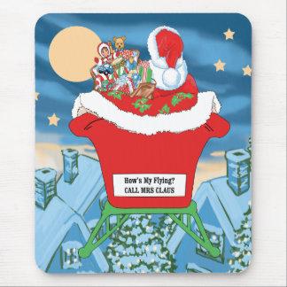 El navidad divertido de Papá Noel Humor cómo está  Tapete De Ratón