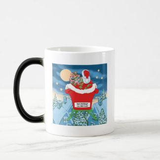 El navidad divertido de Papá Noel Humor cómo está  Taza De Café