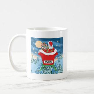 El navidad divertido de Papá Noel Humor cómo está  Tazas
