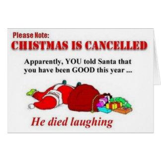 El navidad divertido es tarjeta cancelada