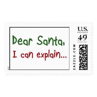 El navidad divertido santa cita los regalos de los sello