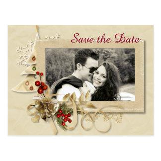 El navidad elegante que se casa con la foto ahorra postales