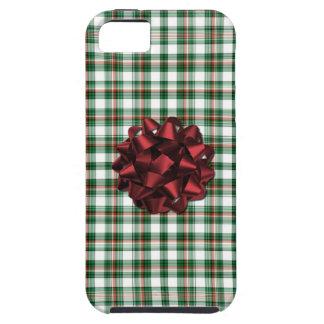 El navidad empaqueta el arco rojo iPhone 5 protector