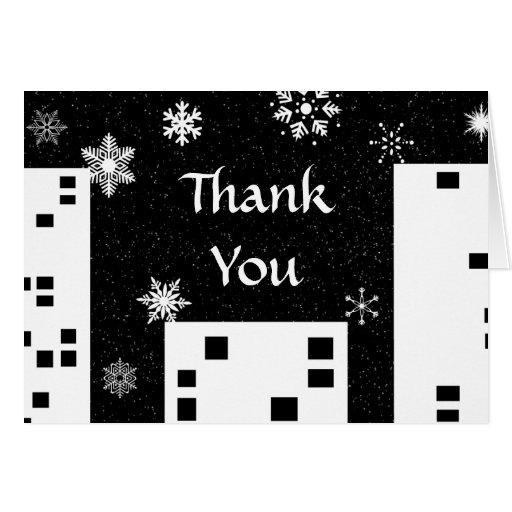 El navidad en la ciudad linda le agradece cardar tarjeta