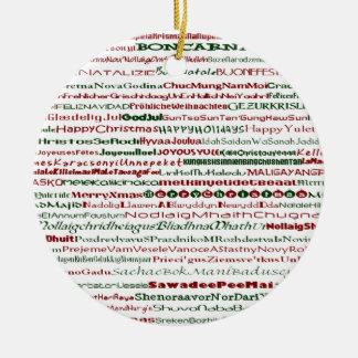 El navidad en todo el mundo adorna adorno navideño redondo de cerámica