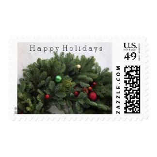 El navidad enorme enrruella buenas fiestas sello postal