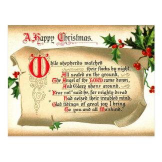 El navidad enrolla con el himno postales