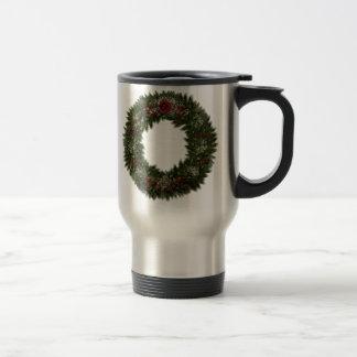 El navidad enrruella el rosa rojo tazas de café