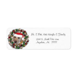 El navidad enrruella la etiqueta de dirección