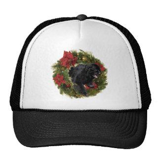 El navidad enrruella Newf negro Gorros