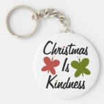 El navidad es amabilidad llavero personalizado