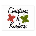 El navidad es amabilidad postal