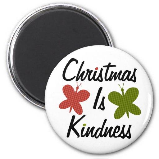 El navidad es amabilidad redonda iman para frigorífico
