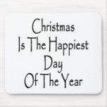El navidad es el día más feliz del año tapetes de ratón