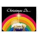 ¡El navidad es esperanza! - Personalizar Felicitacion