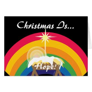 ¡El navidad es esperanza - Personalizar Felicitacion