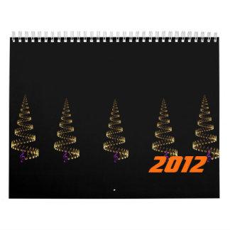 El navidad es luz de la música calendarios de pared
