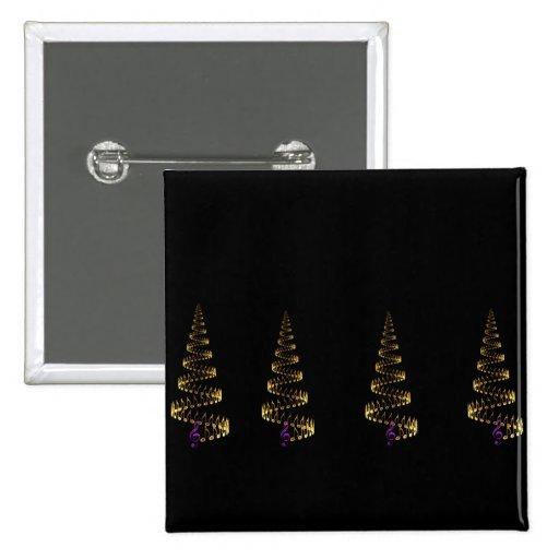 El navidad es luz de la música pin cuadrada 5 cm