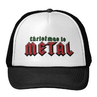 El navidad es metal gorras