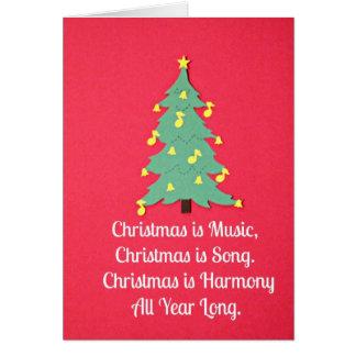El navidad es música… felicitacion