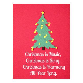 El navidad es música…. tarjetas postales