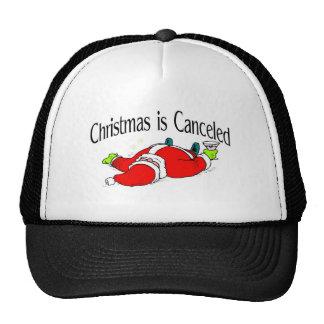 El navidad es Santa bebido cancelado Gorros Bordados