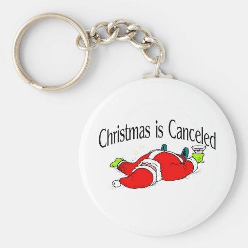 El navidad es Santa bebido cancelado Llavero Redondo Tipo Pin