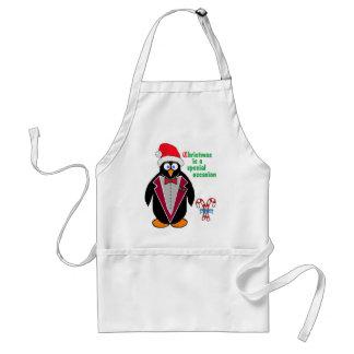 El navidad es una ocasión especial - pingüino de C Delantales