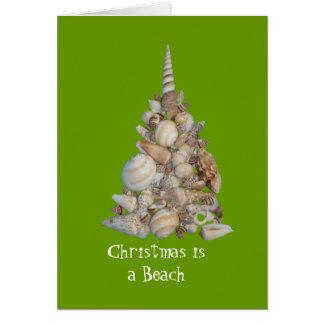 El navidad es una tarjeta de la playa