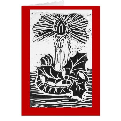 El navidad escoge la puntilla de la vela y del ace tarjeta de felicitación