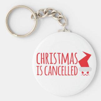El navidad está cancelado con Santa enojado hace Llaveros Personalizados