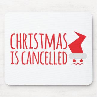 El navidad está cancelado con Santa enojado hace Mouse Pad