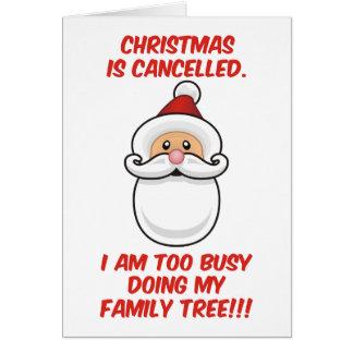 El navidad está cancelado tarjeta de felicitación