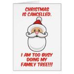 El navidad está cancelado tarjetón