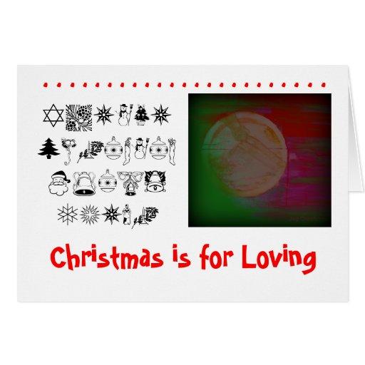 """El """"navidad está para amar """" tarjeta de felicitación"""