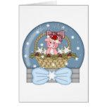 El navidad está para los cerdos - cerdo dulce Snow Felicitación