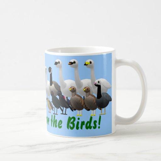 ¡El navidad está para los pájaros! Taza