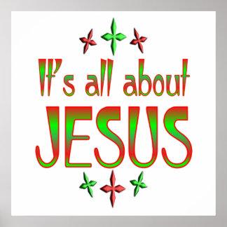 El navidad está sobre Jesús Impresiones