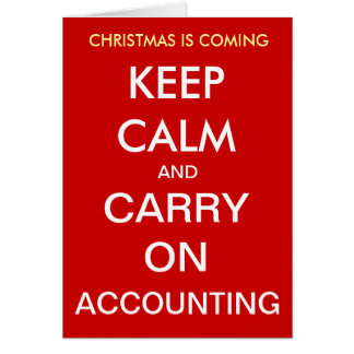 El navidad está viniendo - guarde la calma… Tarjet