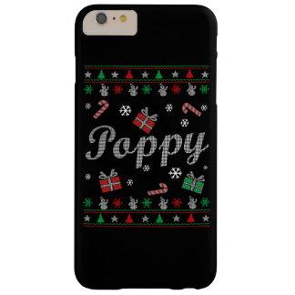 El navidad feo de la amapola funda barely there iPhone 6 plus