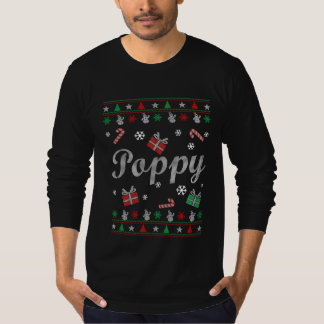 El navidad feo de la amapola remera